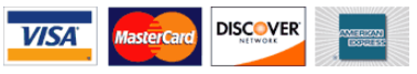 We accepted VISA, MasterCard, Discover, and American Express